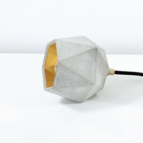 Faceted Concrete Table Light [T2]